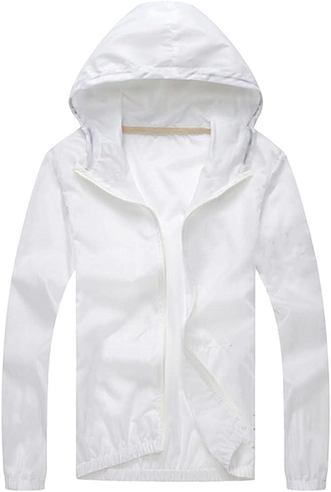 Men`s windbreaker summer Sun outwear sports Thin hooded coats men
