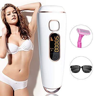 IPL Hair Removal System, Permanent Hair Remover System Device for Women 500000 Flashes Profesional Painless for Facial Armpit Bikniline Leg Body at Home from boyuany