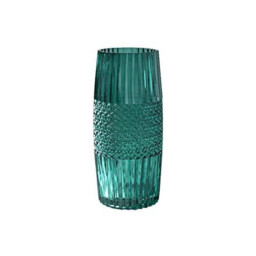 ZXL glazen vaas groen 3 stijlen vazen decoratie hydrocultuur bloemenarrangementen bloemenapparaat TV-kast bijzettafel plantenbak bloempot decoratie (kleur B)
