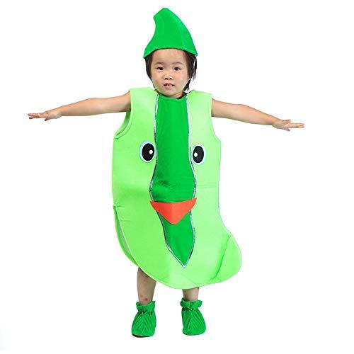 Traje verduras frutas niños Ropa de fiesta de Pepino verde para niños Disfraces para Halloween Cosplay Vacaciones navideñas Niños pequeños Niños Chicas