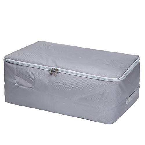 Eono  Brand 100L Large Storage Bag Moisture proof Thick Ultra Size Under Bed Storage Grey Fabric Clothes Bag