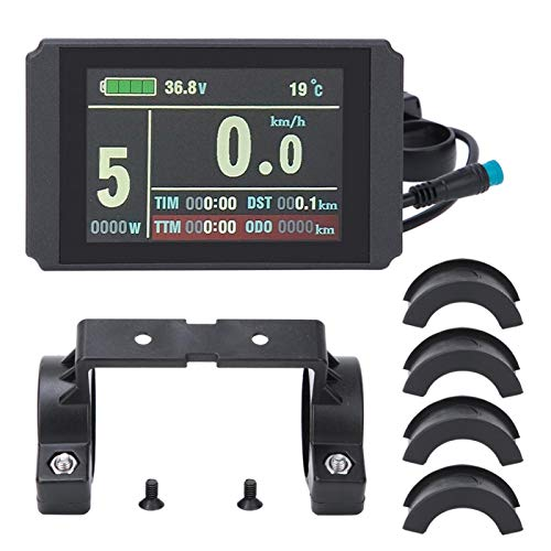 Wosune Bike LCD Instrument, Bicycle LCD Conversion Instrument, KT-LCD8H for Electric Bicycle Bicycle Modification