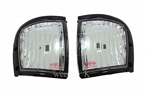 Frontal de vidrio esquina Luz lateral lámpara color blanco para Isuzu Tfr/Holden Rodeo/Amigo…