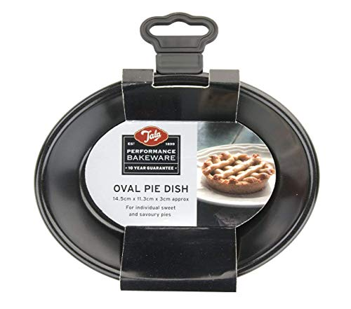 Performance, Oval Pie Dish, Professional Gauge Carbon Steel with Whitford Eclipse Non-Stick Coating, Baking and Cooking, 14.5 x 11.3 x 3cm