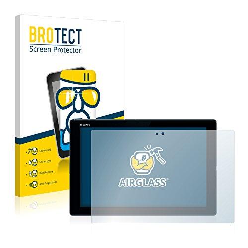 BROTECT Panzerglas Schutzfolie kompatibel mit Sony Xperia Z4 Tablet - AirGlass, 9H Härte, Anti-Fingerprint, HD-Clear