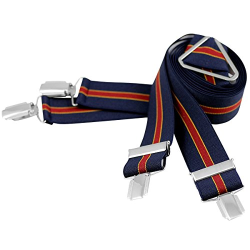 Lindenmann Mens Braces/Suspenders/mens suspenders, X-shape, 35 mm stetch, XXL, navy blue red, 7530-020, Größe/Size:110