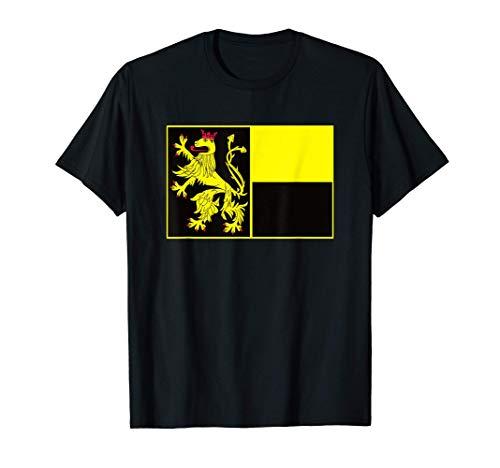 Pfälzer Flagge Fahne mit Löwe für Pälzer und Pfälzerinnen T-Shirt