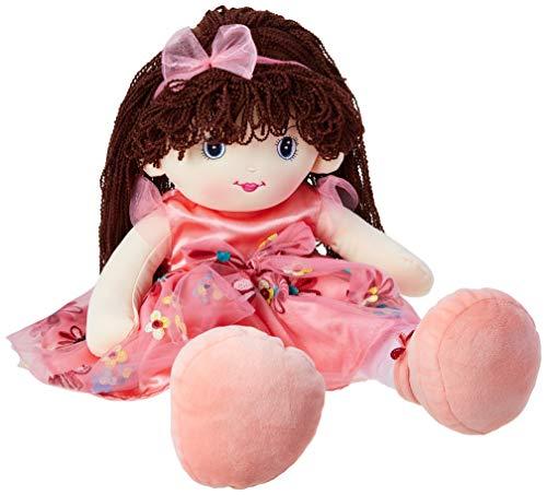 Boneca com Faixa no Cabelo, Foffylandia, Rosa, 55 cm