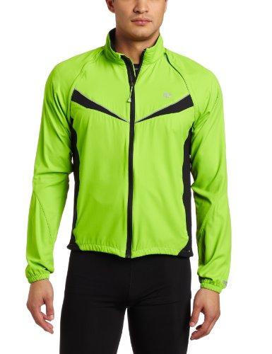 PEARL IZUMI Men's Elite Barrier Convertible Jacket,Green Flash/Black,X-Large