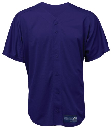 Mizuno Jungen Baseball-Trikot mit Knöpfen, Netzstoff, Kurze Ärmel, Jungen, 350122.6060.06.L, violett, L