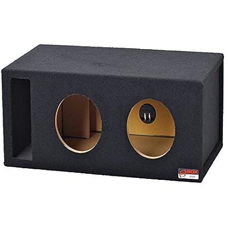 Atrend 10LSVB Red Carbon Fiber 10 Single Vented SPL Custom Subwoofer Box 1.95 Cu Ft