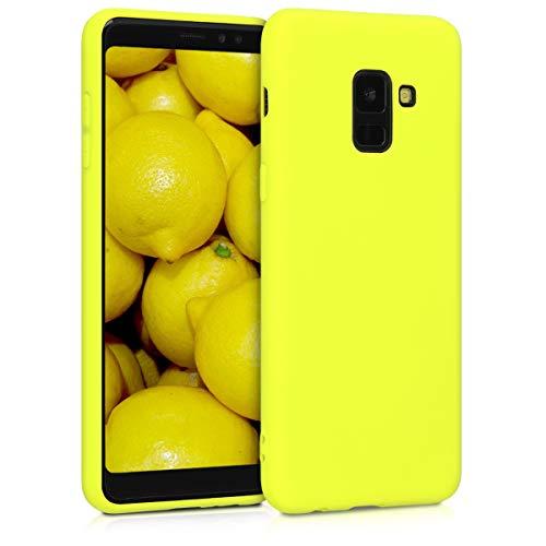 kwmobile Custodia Compatibile con Samsung Galaxy A8 (2018) - Cover in Silicone TPU - Back Case per Smartphone - Protezione Gommata Giallo Pera