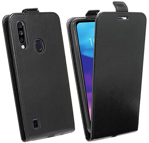 cofi1453® Flip Case kompatibel mit ZTE Blade A7 2020 Handy Tasche vertikal aufklappbar Schutzhülle Klapp Hülle Schwarz
