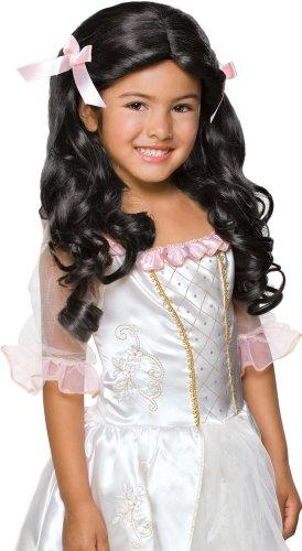 Rubie's Gracious Princess Child's Costume Wig, Raven Black