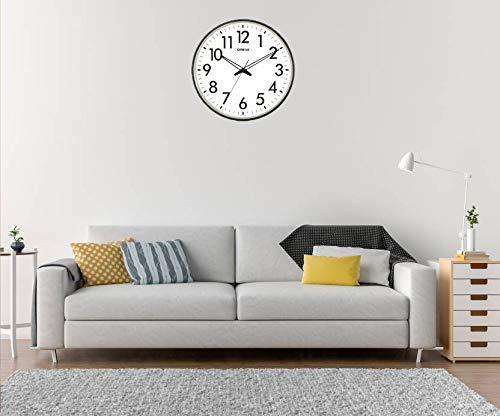 Ajanta Quartz Wall Clock (32 cm x 32 cm x 3.5 cm, White) 4