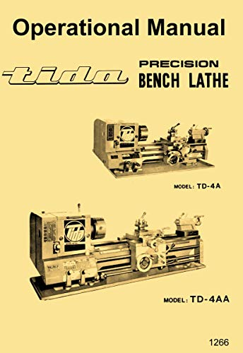 Sale!! Tida, Asian 10x24 10x30 10x36 Metal Lathe Owner's Operating Instructions Manual
