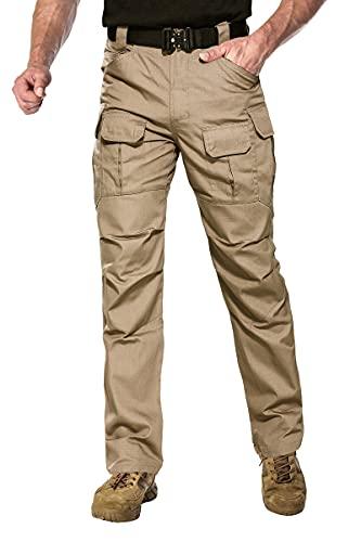 ANTARCTICA Mens Tactical Hiking Pants Durable Lightweight Waterproof Military Army Cargo Fishing Travel Khaki