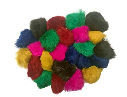 HDP Fourrure Véritable Balles 5,1–6,3 cm chaque Jouets pour Chat