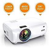 Vidéoprojecteur, WiMiUS 4600 Lumens Vidéo Projecteur Portable Full HD Soutien 1080P...