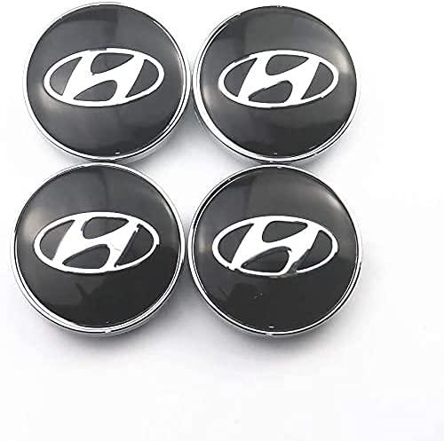 Coche Tapacubos Central Tapas Centrales Para Hyundai Sonata IX35 i20 i30 56mm, Wheel Cubiertas Caps Center Prueba Polvo Aleación Coche Estilo Accesorios