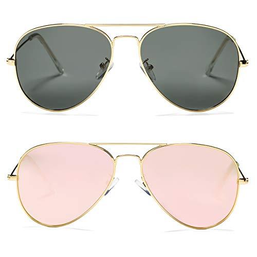 Pro Acme Classic Polarized Aviator Sunglasses for Men and Women UV400 Protection...
