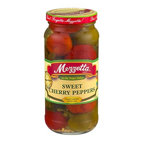 Mezzetta Sweet Cherry Peppers, 16 Oz (Pack of 6)