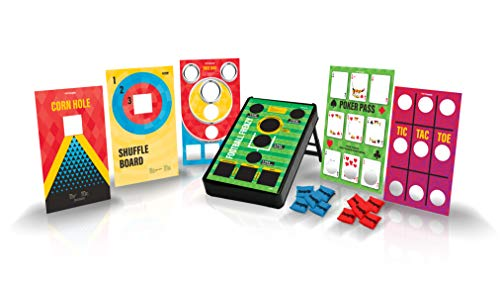 4FUN ChangeUp - Portable Bean Bag Toss Multi-Game Set - 6 Family Friendly Games in One - Great Corn Hole Outdoor Game for Families, Tailgating and Parties - Giant Board Game Fun for All Ages!