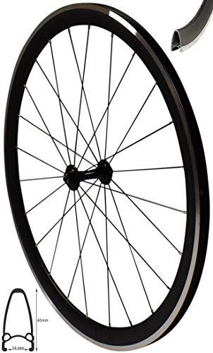 Redondo 28 Zoll Vorderrad Laufrad V-Profil Rennrad Felge Schwarz