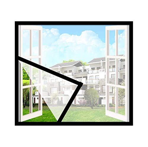 ZXL Anti Mosquito Bug Insect Fly Window Screen Mesh Net Cortina, Malla de reemplazo de Pantalla de Fibra de Vidrio para proyectos de Bricolaje, Mosquito Net para Windows, Blanco, 110x115 cm (43x