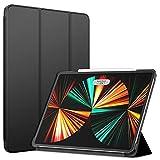 JETech Funda Compatible con iPad Pro 12,9 Pulgadas (5a Generación, 2021 Modelo), Smart Cover Estela/Auto-Sueño, Negro
