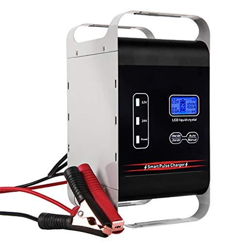 LVYE1 MRMF 12V 24V 600W Cargador De Batería Cargador Automático Inteligente Completamente Automático Cargador De Pulso con Pantalla LED para Coche Motocicleta Juguetes