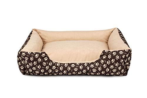 BedDog® lit pour Chien LUPI, Brun/Beige, S env. 55x40 cm,Panier Corbeille, Coussin de Chien