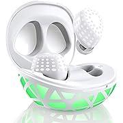 Arbily Bluetooth Kopfhörer Kabellos In Ear Bluethooth, Teilbare Echte Kabellose Kopfhörer Automatische Koppelung Intelligente Pause Steuerung durch Antippen Leuchtet Batterieanzeige(Ausverkauf)