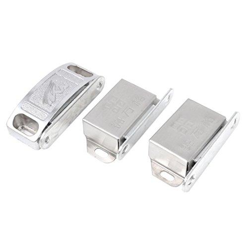 Sourcingmap a14062500ux0171 3 in 1 Catch Latch metalen plaat voor deur kast kabinet, zilver Tone
