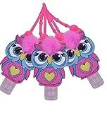 Hand Sanitizer Holder Cute Owls Hand 3 Pack Sanitizer Holder for Travel, Backpacks, Purses, Belt Loops, Strollers and more