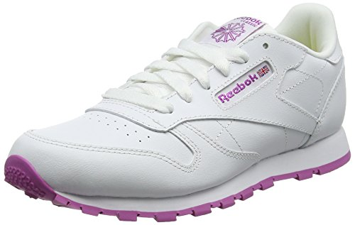 Reebok Classic Leather Bs8044, Zapatillas Unisex Adulto, Lurex White Pink Frenzy, 38 EU