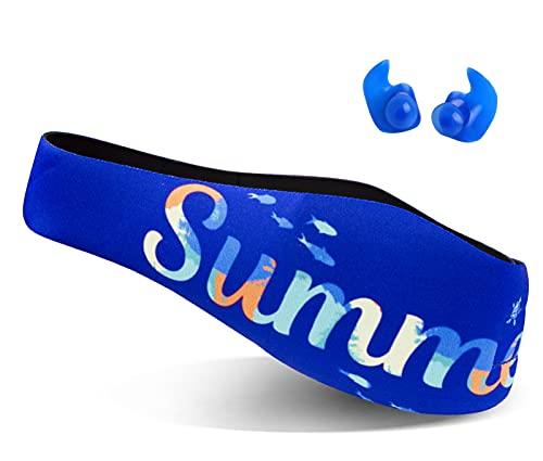 Schwimmen Stirnband für Kleinkinder, Kinder, Erwachsene - um die Ohren der Schwimmer zu schützen, Ohrenschutz - Wasser fernhalten Halten Sie die Ohrstöpsel im
