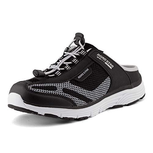 Fusskleidung Damen Herren Sabots Sneaker Sportschuhe Slip-On Clogs Pantoletten Freizeit Sandalen Schwarz Grau EU 38