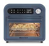 Elite Gourmet Maxi-Matic EAF1010DBG - Horno programable de convección de 10 litros, temperatura + controles de temporizador, hornear, tostadas, asar, freír, 10,5 Qt, azul pizarra