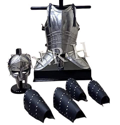 Nautica Replica Hub Medieval Cuero Pierna Brazo Guardias Templario Peto Chaqueta Gladiador Casco Halloween Traje