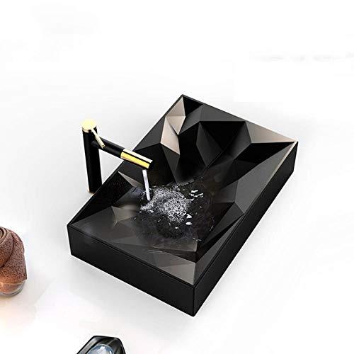 Hiwenr kunst wastafel 560 x 355 x 120 mm mat zwart keramiek schip toilet wastafel handgemaakte wastafel kom modern design