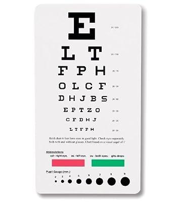 Bock Medical Pocket Snellen Eye Chart