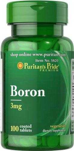 Puritan's Pride Boron Chelated 3 mg 100 Tabletten 5820