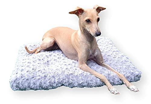 4L Textil Exklusives weiches und kuscheliges Hundebett Largo Hundesofa Hundekissen Hundematratze Hundeliege Transportbox Transportkäfig Tierkissen Haustierbett Hundekorb Kuschlieg (M-80x60)