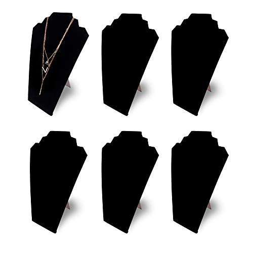 12.5' Black Velvet Jewelry Easel Display Stand Tower Rack for Home Bedroom (6)