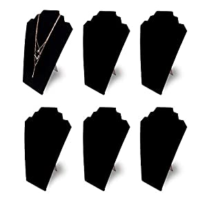 """12.5"""" Black Velvet Jewelry Easel Display Stand Tower Rack for Home Bedroom (6)"""