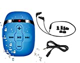 Waterproof MP3 Player for Swimming and Running, Underwater Headphones with 16 Hours Play