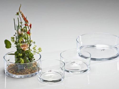 Glasschale Automatic klar rund 8 cm Ø 19 cm von Sandra Rich