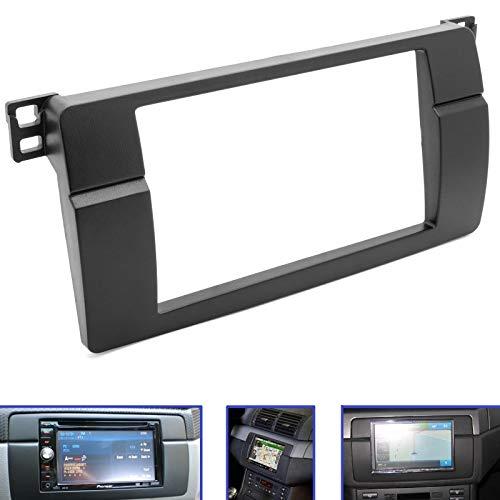 Adapter Universe Auto Radio Blende Einbau Rahmen doppel 2 DIN für BMW 3er (E46) KFZ PKW