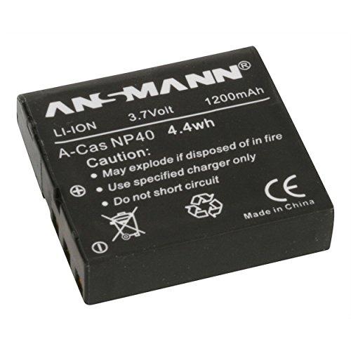 ANSMANN 5022303/05 A-Cas NP 40 Li-Ion Digicam Akku 3,7V/1200mAh für Casio Foto Digitalkamera